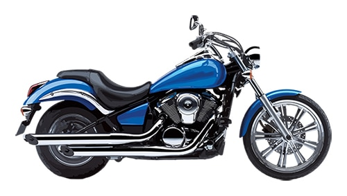 image of a blue cruiser motorcycle